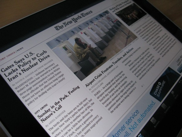 NYTimes on Tablet