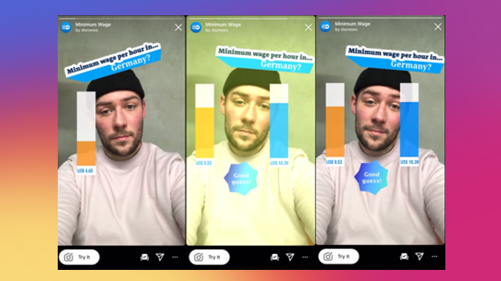 You Draw It AR: Instagram Face Filters for Data-Driven Journalism
